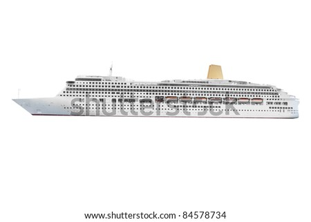 The image of ocean ship under the white background