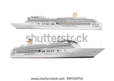 The image of ocean ships under the white background