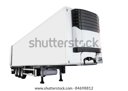 The image of semitrailer isolated under the white background #84698812