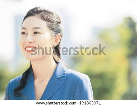 The image of smiling business woman #191805071