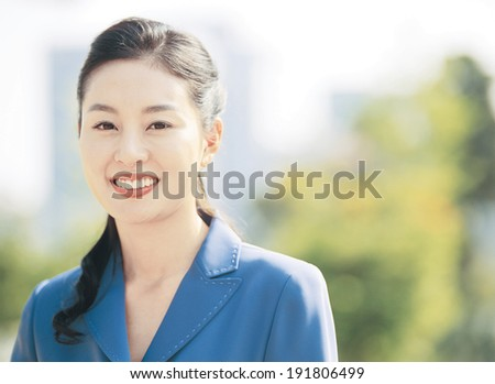 The image of smiling business woman #191806499