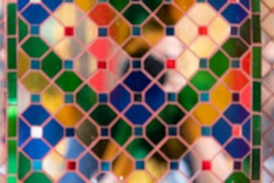The image of the mirror with various colors looks strange.(blur)