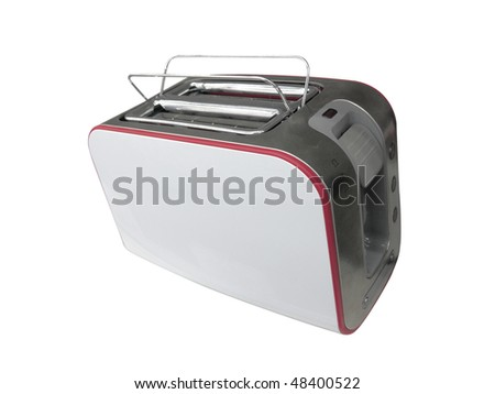 The image of toaster under the light background . The focus is on the front corner #48400522