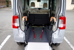 The image which makes a wheelchair into the car