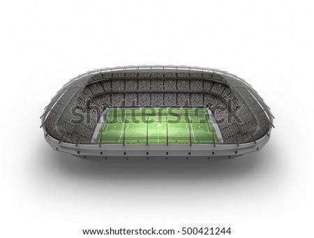The Imaginary Soccer Stadium, 3d rendering