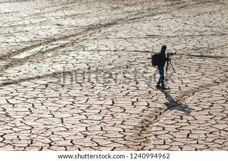 the impact of climate change, made dry land, water shortages #1240994962