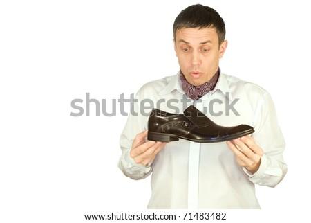 The imposing man chooses elegant footwear