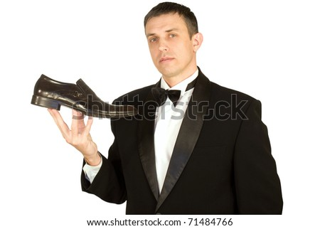 The imposing man chooses elegant footwear