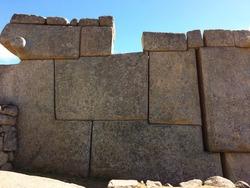 The inca architecture in Machu Picchu, Peru.