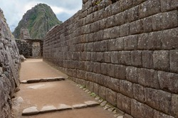The Inca city of Machu Picchu in Peru, South America. Although known locally, it was unknown to the outside world until American explorer Hiram Bingham brought it to international attention in 1911.