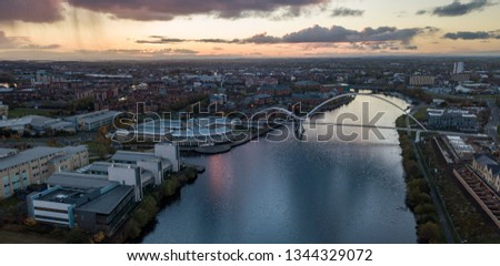 The infinity bridge that crosses the river tees in stockton on tees