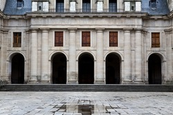 The inner courtyard, of the monastery El Escorial close to Madrid