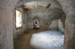 The inner of Forte Sperone (Sperone Fort) , one of the most important and better preserved structures of the fortifications of Genoa, Italy.