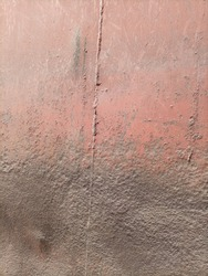 The inner surface of a railway wagon blackened due to rust