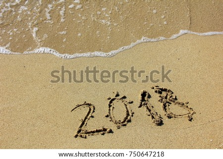 the inscription on the sand 2018 #750647218