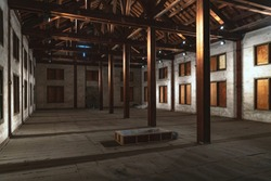 The Inside of East Cocoon Warehouse of the Tomioka Silk Mill in Gunma, Japan