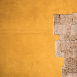 The inside wall of Torres de Quart (ancient western city gate of old town Valencia).