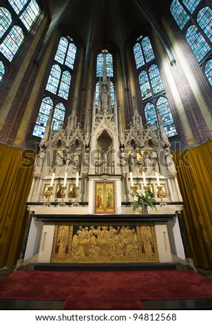 The interior of a catholic church in The Netherlands