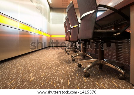 The interior of a modern office