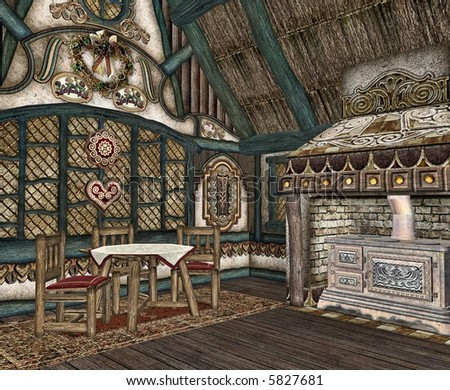 Fairytale Cottage Interior The Of A