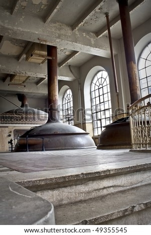 The interior of an old abandoned Beer distillery, an urban place.