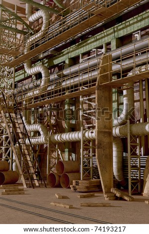 The interior of the plant.