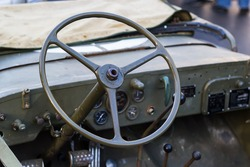 The interior of the vehicle of the Second World War - Willys MB