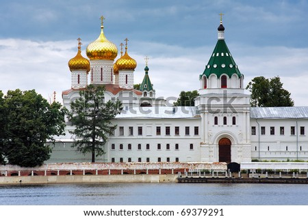 The Ipatiev Monastery on the bank of the Kostroma river, Russia