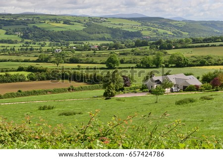 The Irish countryside and farmland in June. #657424786
