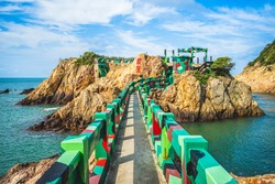 The Iron Fort at Nangan Island, Matsu, Taiwan. Translation: