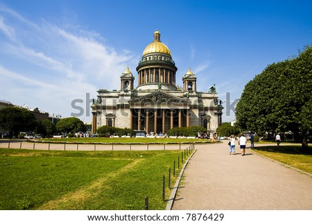 The Isaac cathedral in St Petersburg