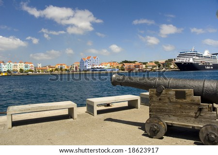 The Island of Curacao, Willemstad (Netherlands Antilles)