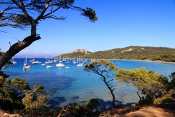 The island of Porquerolles and the Notre-Dame beach