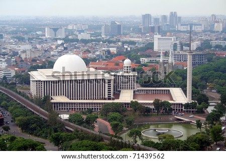 The Istiqlal Mosque in Jakarta is the largest of South-East Asia