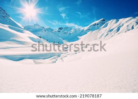The italian alps in winter #219078187