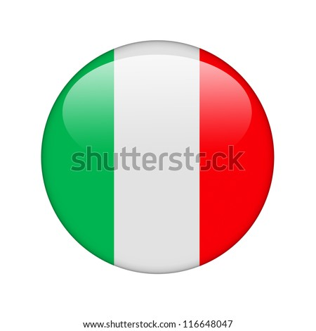The Italian flag in the form of a glossy icon.