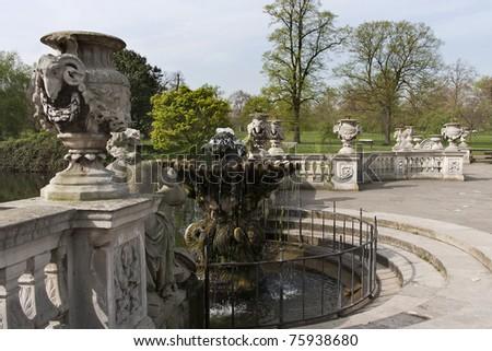 The Italian Fountains in Hyde Park, London, England.