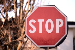 the italian roadsign of stop
