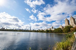 The Jackie Kennedy Onassis Reservoir in Central Park, New York City