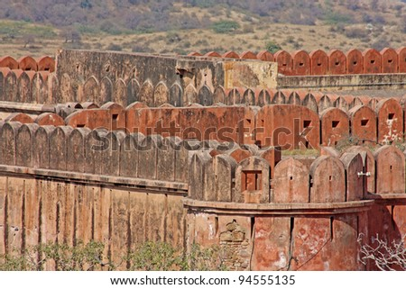 The Jaigarh Fort near Jaipur is one of the most spectacular forts in India