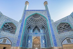 The Jameh Mosque or the Jame mosque, UNESCO World Heritage Site and it is one of the oldest mosques still standing in Iran, located in Imam square, Isfahan. Iran.