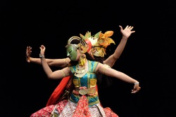 The Javanese wayang wong dance-drama took stories from the episodes of Ramayana or Mahabharata Hindu epic.