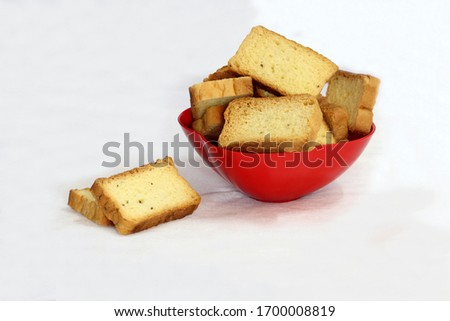 The Jeers Toast is quite enjoyable when taken with tea coffee Stock photo ©