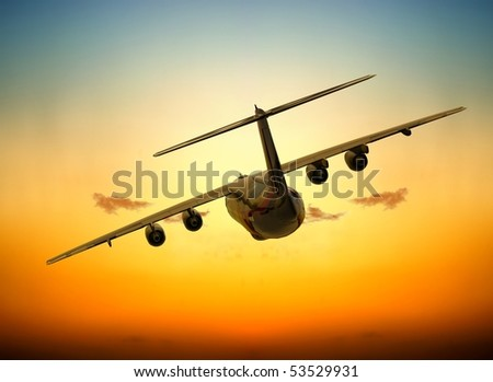 The jet plane on a background of the sky - Shutterstock ID 53529931
