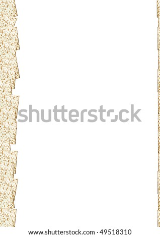 The Jewish Matzo Flatbread for Passover Seder pattern with white background