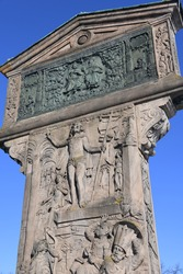 The Johannisfriedhof is located in the St. Johannis district of Nuremberg. Adam Kraft's first station of the cross was built in 1506-1508.