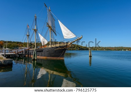 The Joseph Conrad at Mystic Seaport, Mystic CT Full-Rigged Ship  Built in Copenhagen in 1882 #796125775