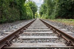 the journey is the destination -  rails with vanishing point