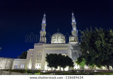 The Jumeirah Mosque in Dubai UAE