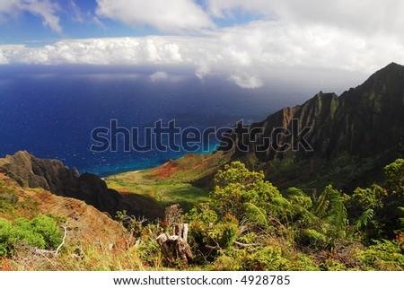 The Kalalau Valley on Kauai, Hawaii